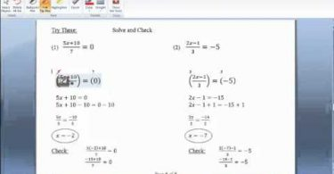 MATH 090 Section 3.3 Equations and Fractions video
