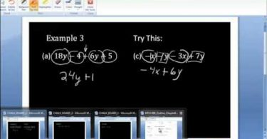 MATH 090 Section 8.5 Video Combining like terms