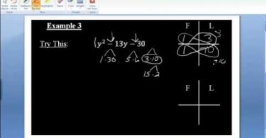 MATH 098 Section 5.3 Factoring Trinomials by scissor method
