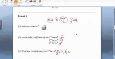 MATH 098 Section 8.3 Algebraic Expressions video